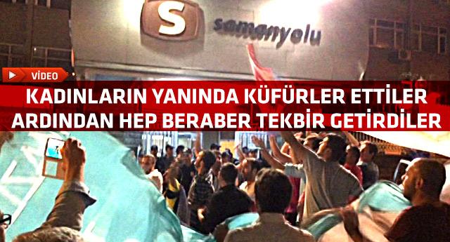 AKP'li protestoculardan ağıza alınmayacak küfürler Video !