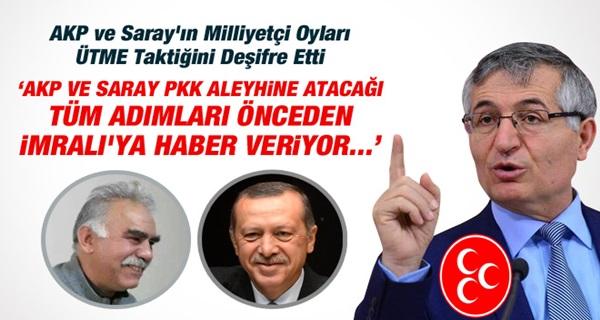 MHP'li Özcan Yeniçeri: AKP ve Saray Önceden İmralı'ya Haber Veriyor