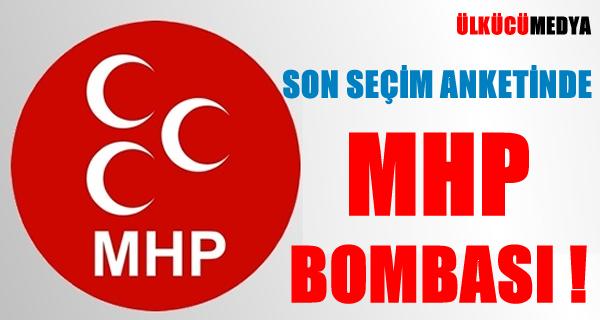 Son Seçim Anketinde MHP BOMBASI