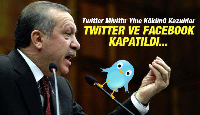 Facebook- Twitter Ve YouTube'a Kapatma Kararı
