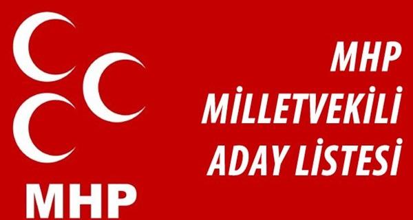 MHP Milletvekili İl İl Aday Listesi 2015