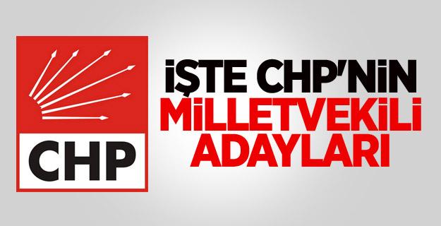 CHP'nin Milletvekili Adayları Tam Listesi 2015