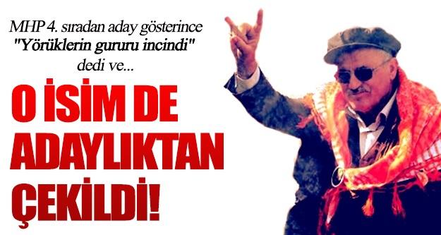 MHP'nin milletvekili adayı Ramazan Kıvrak, adaylıktan çekildi