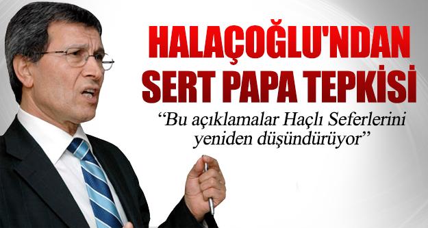 Yusuf Halaçoğlu'ndan Sert Papa Tepkisi
