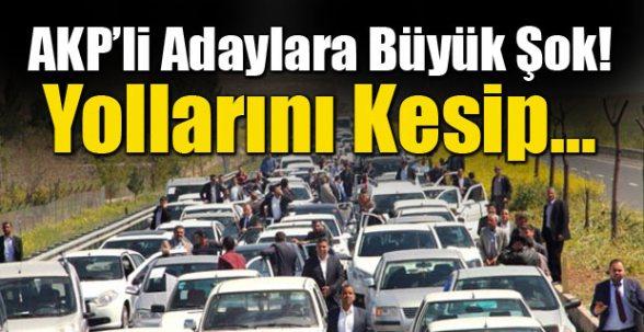 Şanlıurfa'da Çiftçiler AK Partili Adayların Yolunu Kesti