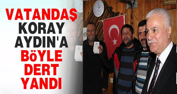 Vatandaştan MHP'li Koray Aydın'a: bu iktidar bizi kumarbaz yaptı !