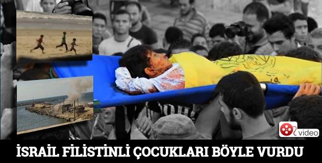 İsrail Filistinli çocukları böyle vurdu Video !