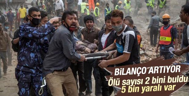 Nepal'de ölü sayısı 2 bini buldu