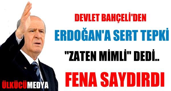 "Bahçeli'den Erdoğan'a ""asgari ücret"" tepkisi"