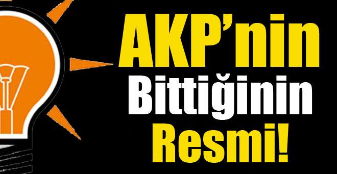 AKP'nin Bittiğinin Resmi !