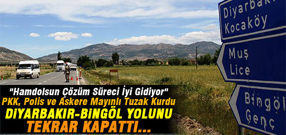PKK DİYARBAKIR-BİNGÖL YOLUNU TEKRAR KAPATTI