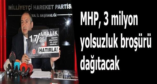 MHP 3 Milyon Yolsuzluk Broşürü Dağıtacak