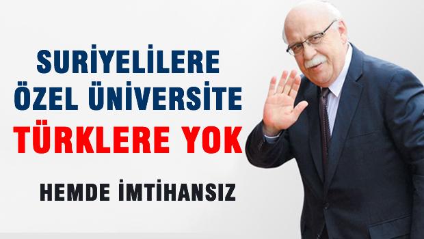 Suriyelilere Özel Üniversite