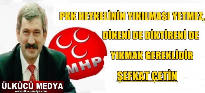 ŞEFKAT ÇETİN: PKK HEYKELİNİN YIKILMASI YETMEZ !