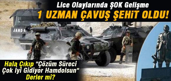 PKK HEYKEL ÇATİŞMASINDA 1 ASKER ŞEHİT OLDU !