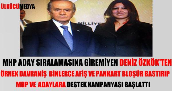 DENİZ ÖZKÖK'TEN MHP VE ADAYLARA PANKARTLI DESTEK