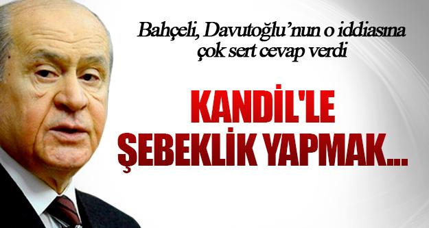 Devlet Bahçeli'den Davutoğlu'nun o iddiasına çok sert cevap