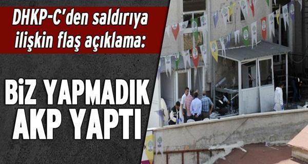 DHKP-C: Biz yapmadık AKP yaptı