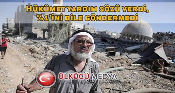 Ankara, Gazze'ye yardım sözünün %1'ini bile göndermedi...
