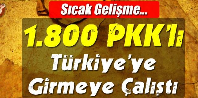 1800 PKK'lı Türkiye'ye Girmek İstedi !