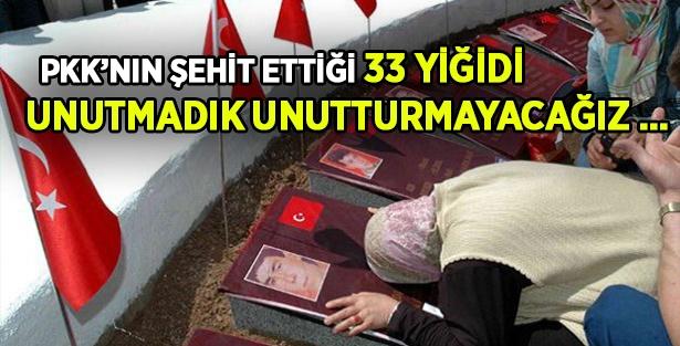 PKK terörüyle şehit olan 33 asker anıldı.