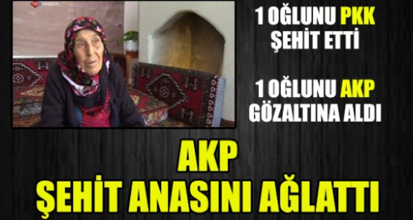 AKP şehit anasını ağlattı...