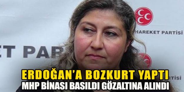 'Erdoğana bozkurt selamı verdi, MHP binası basıldı, gözaltına alındı