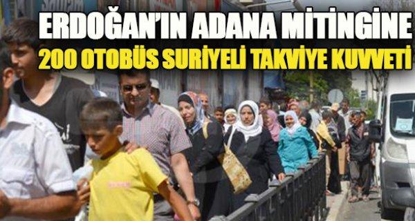 Erdoğan'ın mitingi için Suriyelilerin kaldığı çadır kentten 200 otobüs kaldırıldı