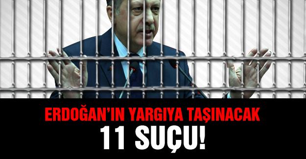 Erdoğan'ın Yargıya Taşınacak 11 Suçu