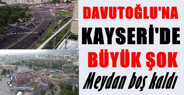 Kayseri'de Davutoğlu'na Büyük Şok! MEYDAN BOŞ KALDI