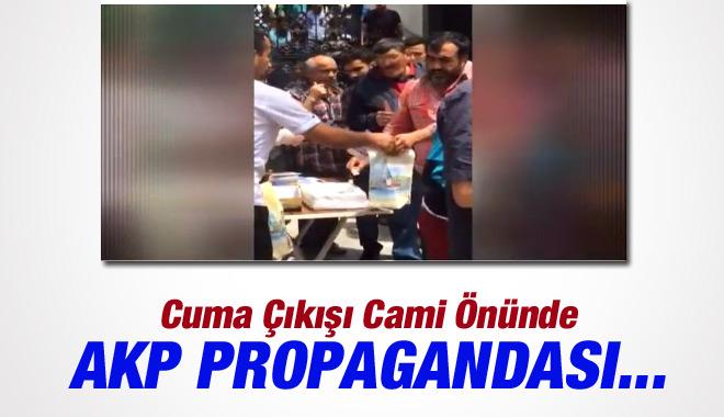 Cuma Çıkışında Cemaate AKP Propagandası Yaptılar