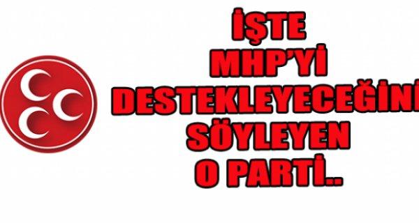 O parti açıkladı! Oylarımız MHP'ye