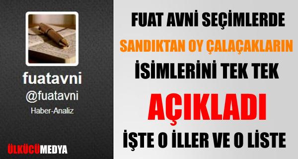Fuat Avni AKP'de Seçimde Oy Çalacakların İsimlerini Açıkladı!