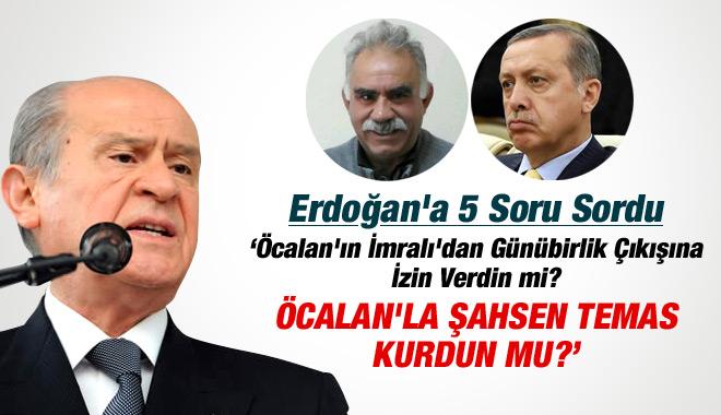 Devlet Bahçeli, Erdoğan'a Sordu: Öcalan'la Şahsen Temas Kurdun mu?