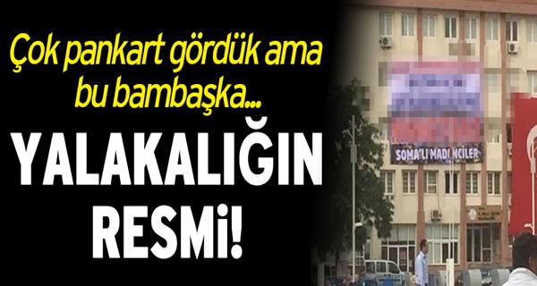 Somalı madenciler adına teşekkür pankartı!