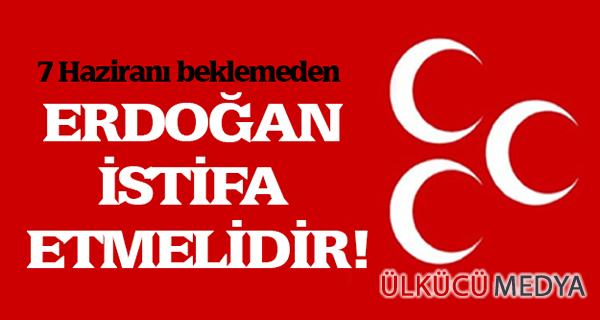 MHP Cumhurbaşkanı'nın İstifasını İstedi