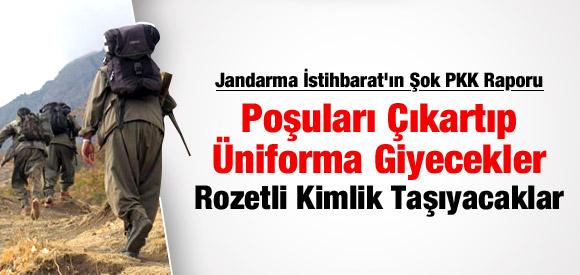 PKK ÜNİFORMA GİYİP ROZET TAKACAK !