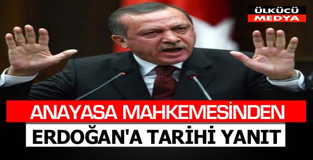 AYM'den Erdoğan'a tarihi yanıt