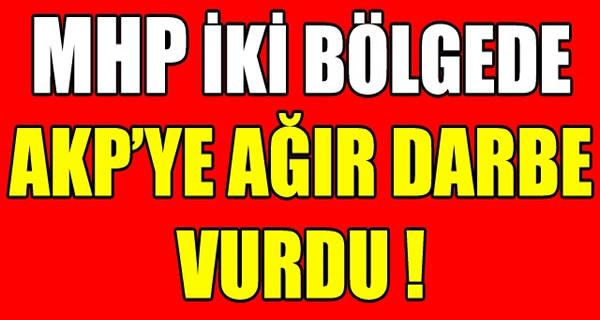 MHP İKİ BÖLGEDE AKP'YE AĞIR DARBE VURDU !