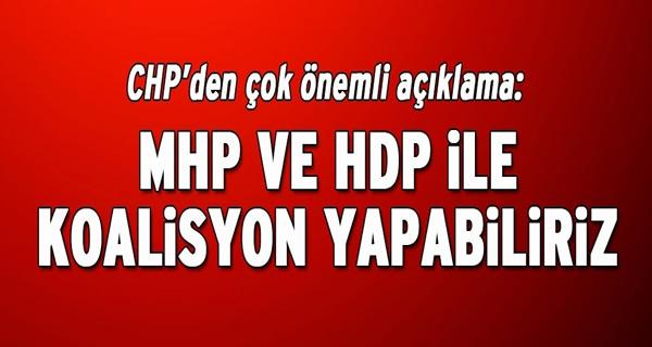 CHP'den koalisyon için önemli açıklama !