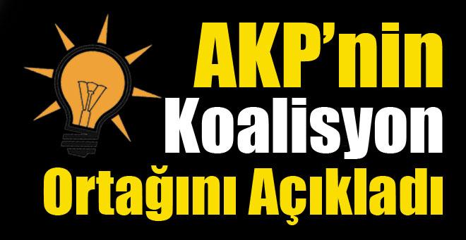 AKP'nin koalisyon ortağını açıkladı