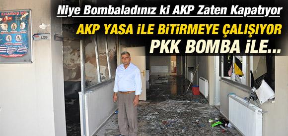 AKP YASA İLE PKK BOMBA İLE KAPATMAYA ÇALIŞİYOR !