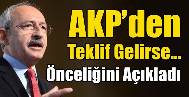 İşte Kılıçdaroğlu'nun koalisyon önceliği!