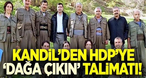 KANDİL'DEN HDP'YE DAĞA ÇIKIN TALİMATI !