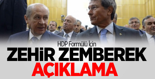 HDP Formülü İçin Zehir Zemberek Açıklama