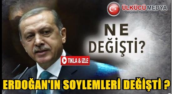 Erdoğan'ın söylemleri değişti! Ne değişti?