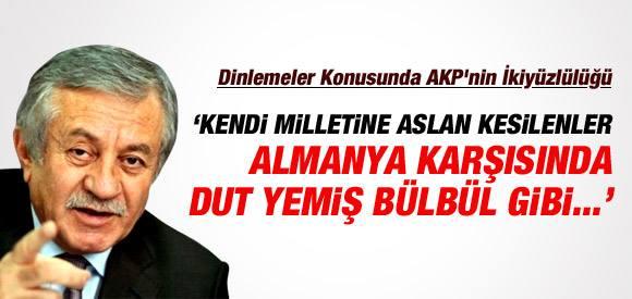 """AKP, ALMANYA'YA ÜÇ MAYMUNU OYNUYOR""...!"