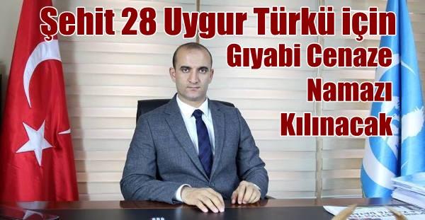 Ülkü Ocaklarından Şehit Uygur Türkleri İçin Gıyabi Cenaze Namazı