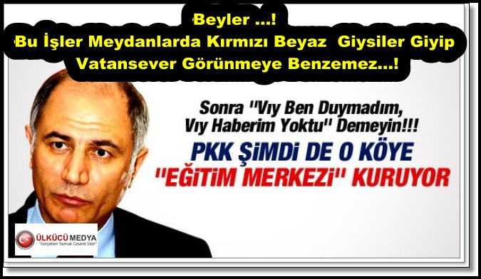 TERÖRİST HEYKELİNDEN SONRA PKK EĞİTİM MERKEZİ ....!