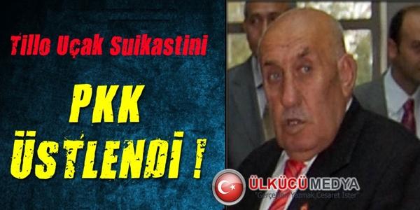 Tillo Uçak Cinayetini PKK Üstlendi !